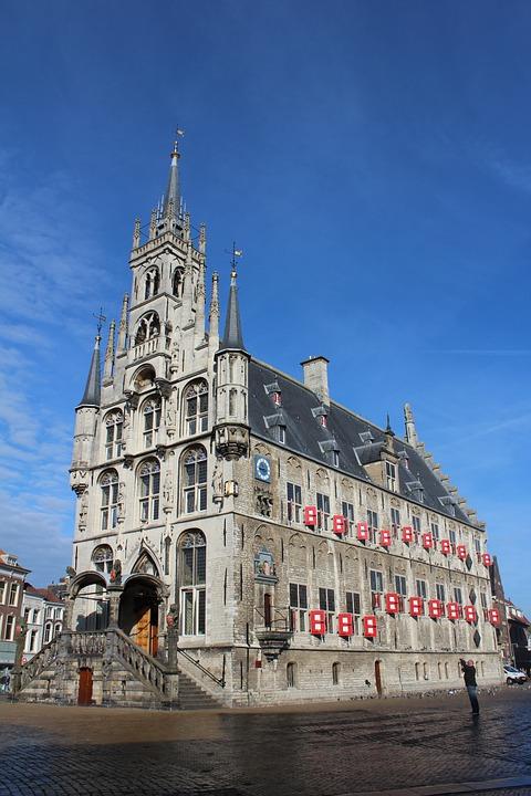 Netherlands Holland Gouda town hall 荷兰 豪达 古老小镇 市政厅 市镇厅