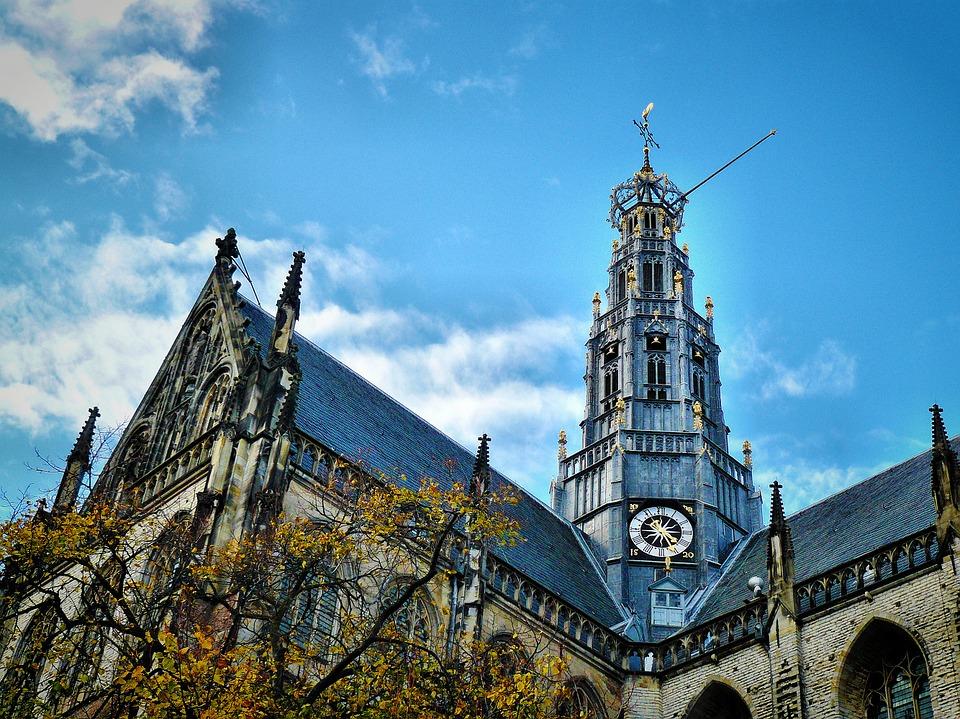Netherlands Haarlem church 荷兰 哈勒姆 大教堂 建筑