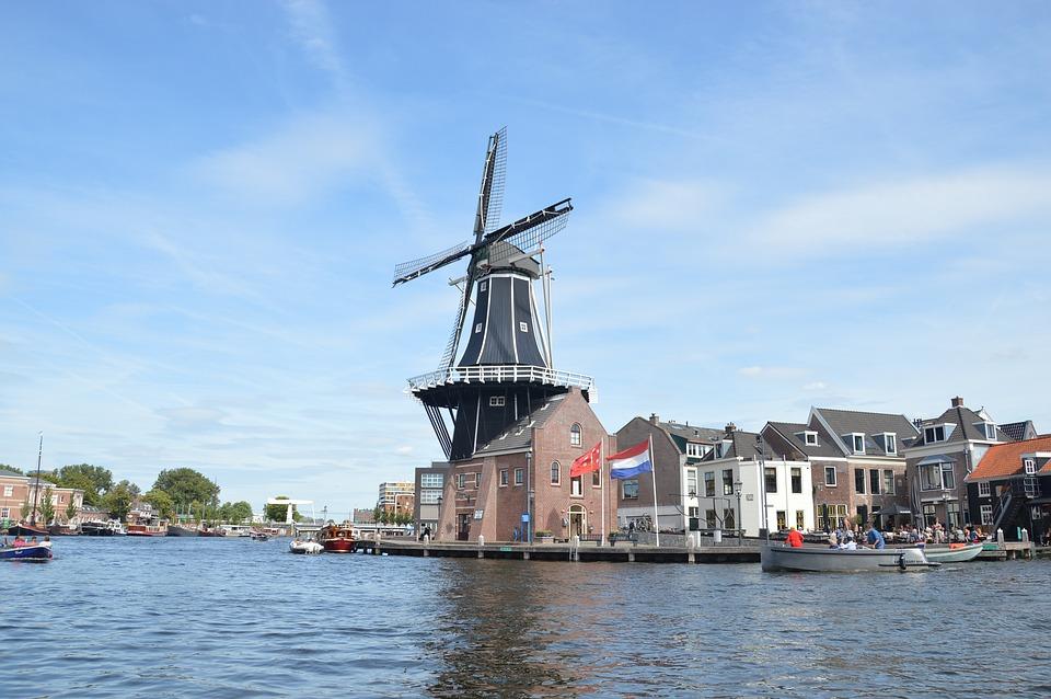 Netherlands Haarlem windmills 荷兰 哈勒姆 风车 运河