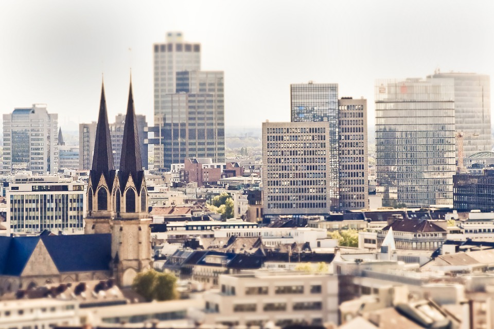 Dusseldorf city modern buildings 德国 杜塞尔多夫 现代建筑